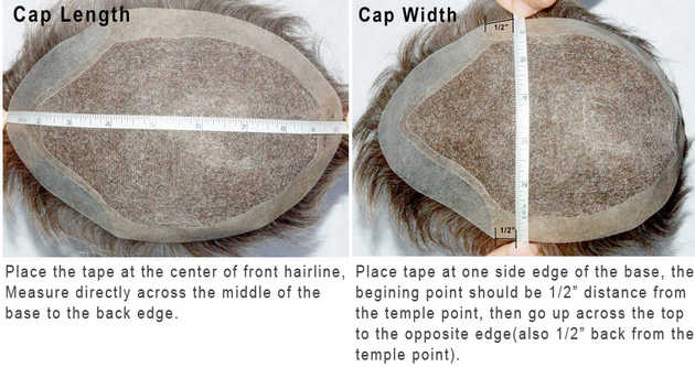 measure a hair replacement